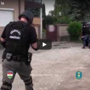 Orgazdákra csaptak le Vácott is! /videó/